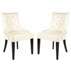 Safavieh Abby Tufted Side Chairs (Set Of 2) - Silver Nail Heads, Flat Cream