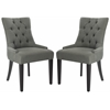Abby Tufted Side Chairs (Set Of 2) - Silver Nail Heads, Sea Mist