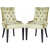 Safavieh Abby Tufted Side Chairs (Set Of 2) - Silver Nail Heads, Antique Sage