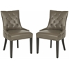 Safavieh Abby Tufted Side Chairs (Set Of 2) - Silver Nail Heads, Clay