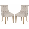 Safavieh Abby Tufted Side Chairs (Set Of 2) - Brass Nail Heads, Grey