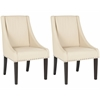 Britannia Kd Side Chairs (Set Of 2) - Silver Nail Heads, Cream