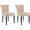 Sinclaire Kd Side Chairs (Set Of 2) - Silver Nail Heads, Wheat