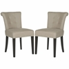 Safavieh Sinclair Ring Chair (Set Of 2)  - Silver Nail Heads, Oyster