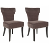 Jappic Kd Side Chairs (Set Of 2) - Silver Nail Heads, Bark