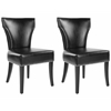 Safavieh Jappic Kd Side Chairs (Set Of 2) - Silver Nail Heads, Black