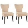 Safavieh Jappic Kd Side Chairs (Set Of 2) - Silver Nail Heads, Wheat