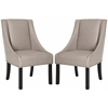 Safavieh Morris Sloping Arm Dining Chair (Set Of 2) - Silver Nail Heads, Oyster