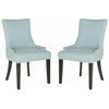 Safavieh Lester Dining Chair - Silver Nail Heads, Sky Blue