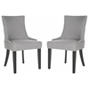Lester Dining Chair - Silver Nail Heads, Artic Grey