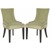 Safavieh Lester Dining Chair  (Set Of 2) - Brass Nail Heads, Mint