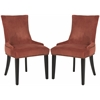 Safavieh Lester Dining Chair  (Set Of 2) - Brass Nail Heads, Rust