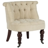 Carlin Tufted Chair, Natural Cream