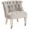 Carlin Tufted Chair, Mushroom Taupe