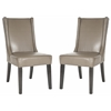 Safavieh Sher Side Chair (Set Of 2) - Silver Nail Heads, Clay