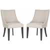 Safavieh Afton Side Chair (Set Of 2) - Silver Nail Heads, Taupe