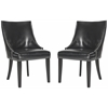 Afton Side Chair (Set Of 2) - Silver Nail Heads, Black