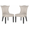 Safavieh Ciara Side Chair (Set Of 2) - Silver Nail Heads, Grey