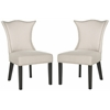 Safavieh Ciara Side Chair (Set Of 2) - Silver Nail Heads, Taupe