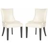 Gretchen Side Chair (Set Of 2) - Silver Nail Heads, Flat Cream