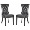 Columbo Tufted Side Chair (Set Of 2), Antique Black