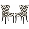 Jappic Ring Side Chair - Silver Nail Heads, Black / White
