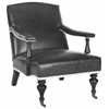 Devona Arm Chair - Silver Nail Heads, Antique Black