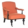 Devona Arm Chair - Brass Nail Heads, Orange
