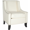 Daniel Club Chair - Silver Nail Heads, Antique White