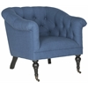 Nicolas Club Chair, Steel Blue