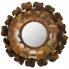 Safavieh Lotus Mirror, Burnt Copper W/Clear P/Coat