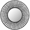 Swirl Round Wall Mirror, Black