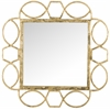 Alexandria Fretwork Mirror, Antique Gold