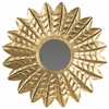 Deco Leaf Mirror, Antique Gold