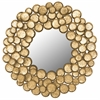 Honey Mushroom Mirror, Antique Gold