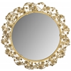 Flora Mirror, Antique Brass