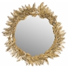 Safavieh Shana Feather Mirror, Antique Brass