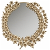 Bella Flower Mirror, Antique Brass