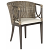 Beningo Arm Chair, Brown/Black Multi