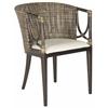 Beningo Arm Chair, Brown/Black Multi