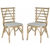 Safavieh Cynzia Rattan Side Chair, Natural