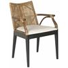 Gianni Arm Chair, Brown, White Cushion