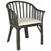 Gin Arm Chair, Black, White Cushion