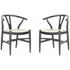 Aramis Dining Chair, Black & Ivory