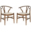 Aramis Dining Chair, Antique Brown & Taupe