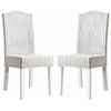 Safavieh Odette Wicker Dining Chair, White