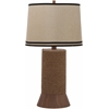 Alex Bay Table Lamp, Hemp Brown; Natural Shade