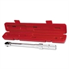 Ratchet Head Torque Wrench, 3/8in Drive, 20-100 ft lb