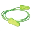 Goin' Green Foam Earplugs, Corded, Green, NRR 33