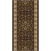Radici NOBLE 2'2 X 8' 1305 Rug, Black
